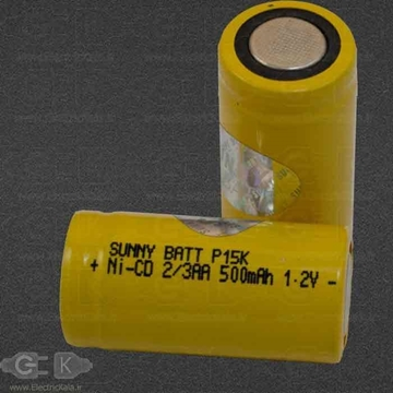 battery 2/3a 500mah