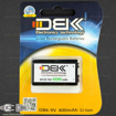 battery 9v rechargeable dbk li-on