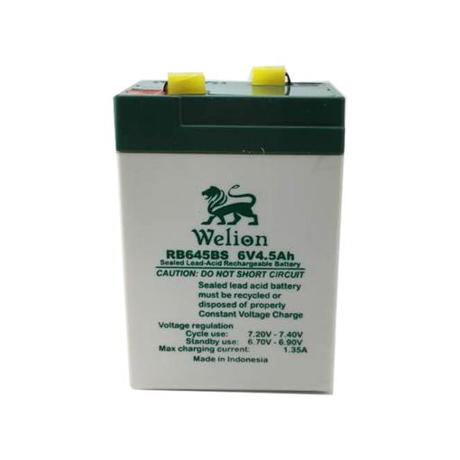 باتری سیلد اسید 6 ولت 4.5 آمپر WLION مدل W645