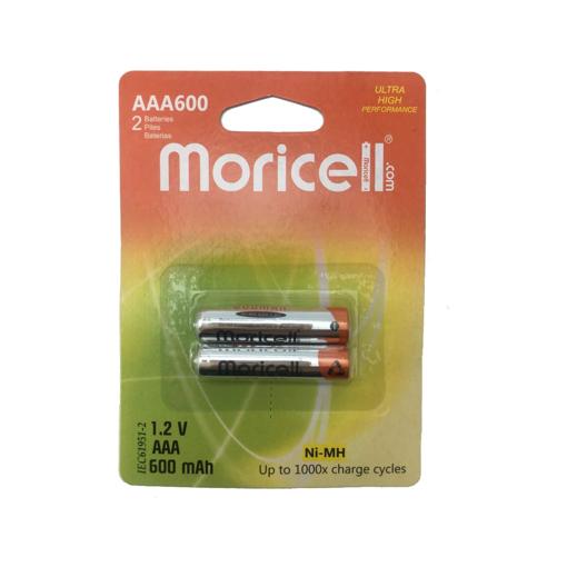 باطری نیم قلمی 1.2 ولت قابل شارژ موریسل 600 میلی آمپر