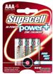 پک چهار عددی باتری نیم قلمی برند Supacell