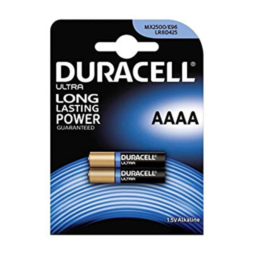 باتری دو تایی اولترا آلکالاین سایز AAAA مارک duracell